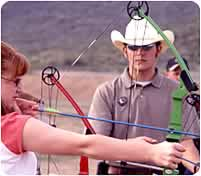 Helping learn archery
